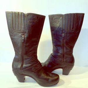 Dansko Rylan Black Boot Sz 42 Leather Crazy Horse